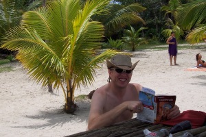 Just a little beach reading in Guatemala...