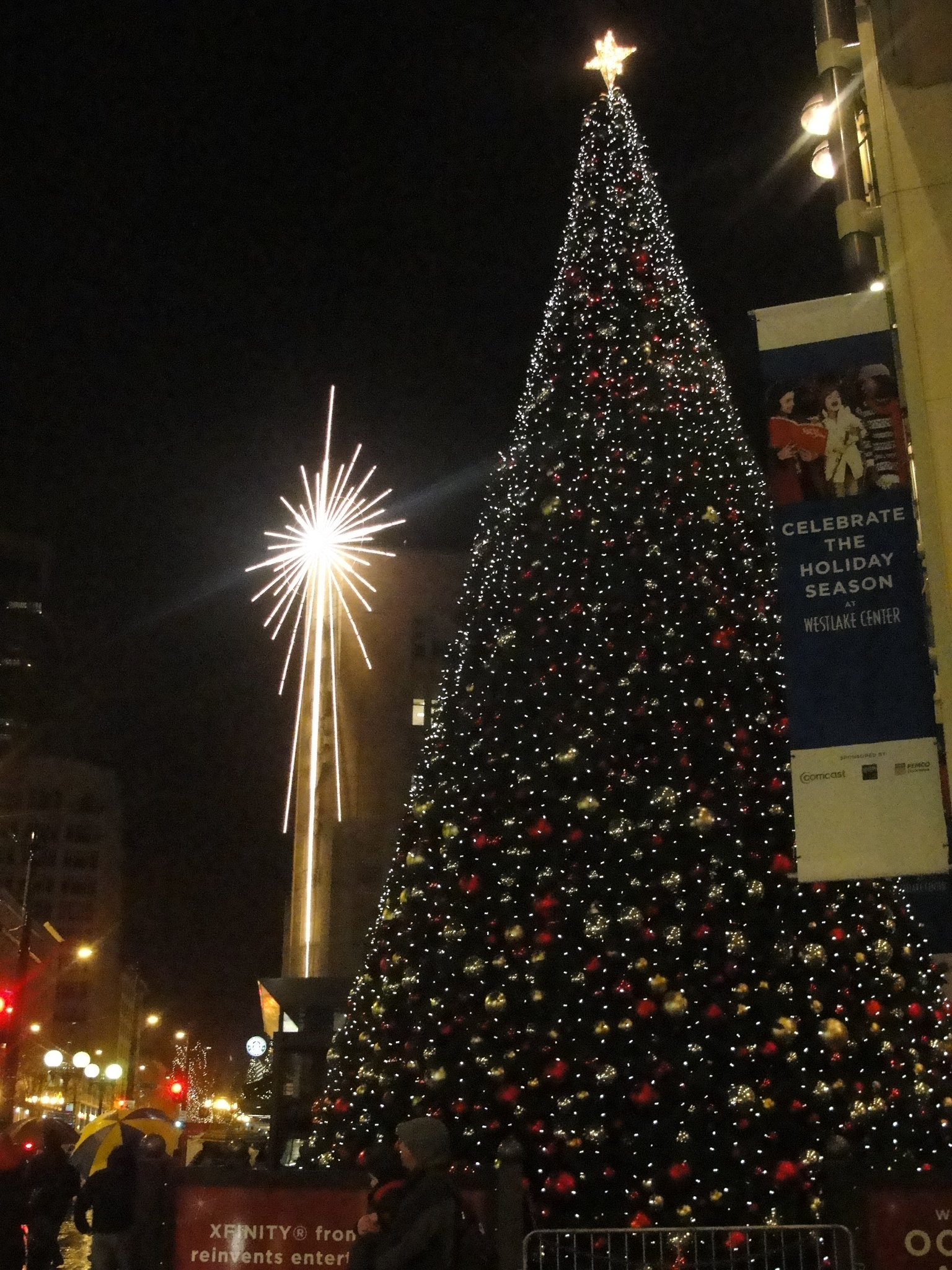 Seattle Christmas.A Christmas Evening In Downtown Seattle 3 Free Happenings