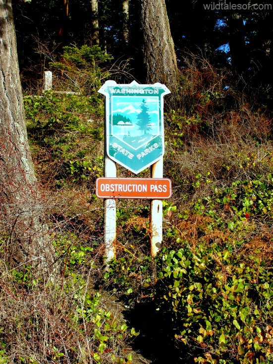 Obstruction Pass State Park Sign
