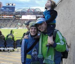 Family at the Seattle Sounders Soccer Match | WildTalesof.com