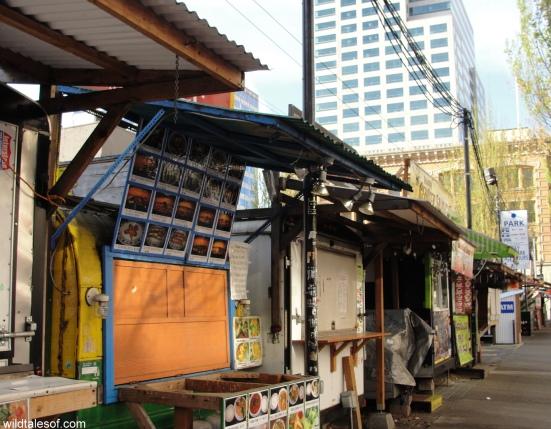 Downtown Portland Food Carts: WildTalesof.com