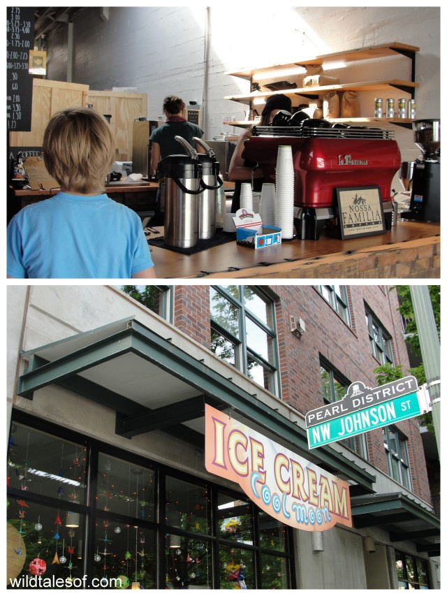 Portland's Pearl District: Noosa Familia Coffee & Cool Moon Ice Cream | WildTalesof.com