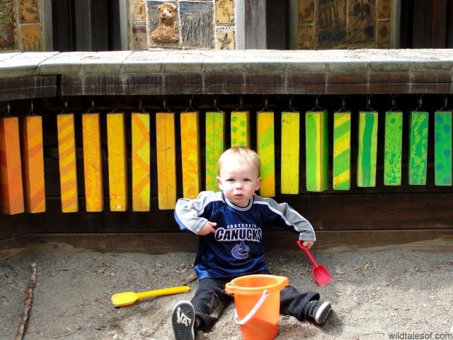 Saint Edwards State Park playground sandbox | WildTalesof.com
