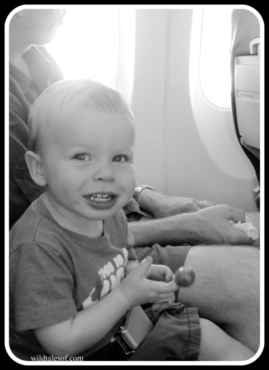 Busy Toddler's Plane Ride | WildTalesof.com
