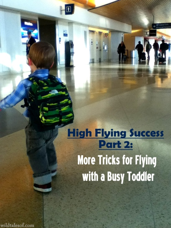 High Flying Success Part 2: More Tricks for Flying with a Busy Toddler | WildTalesof.com