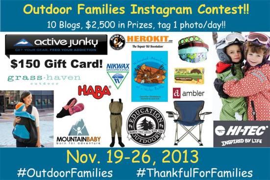 Outdoor Families Instagram Contest | WildTalesof.com