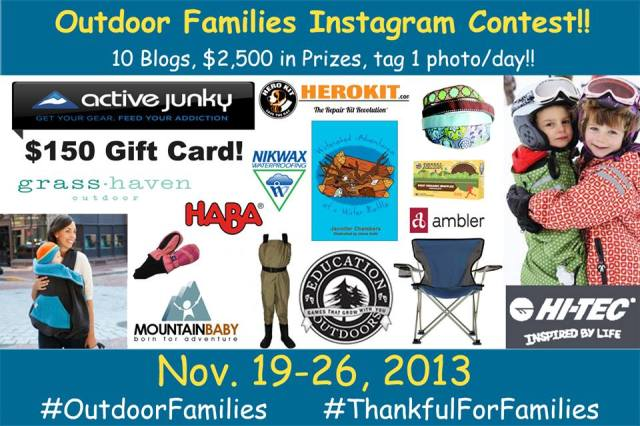 Outdoor Families Instagram Contest | WildTalesof.com