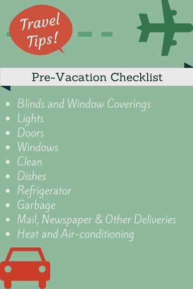 PreVacation Checklist  WildtalesofCom